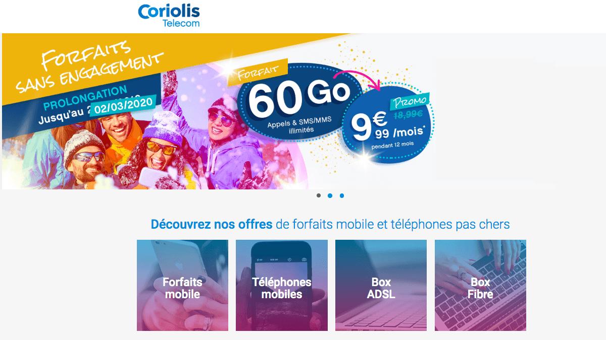 Coriolis Telecom brade les prix de son forfait mobile 60 Go
