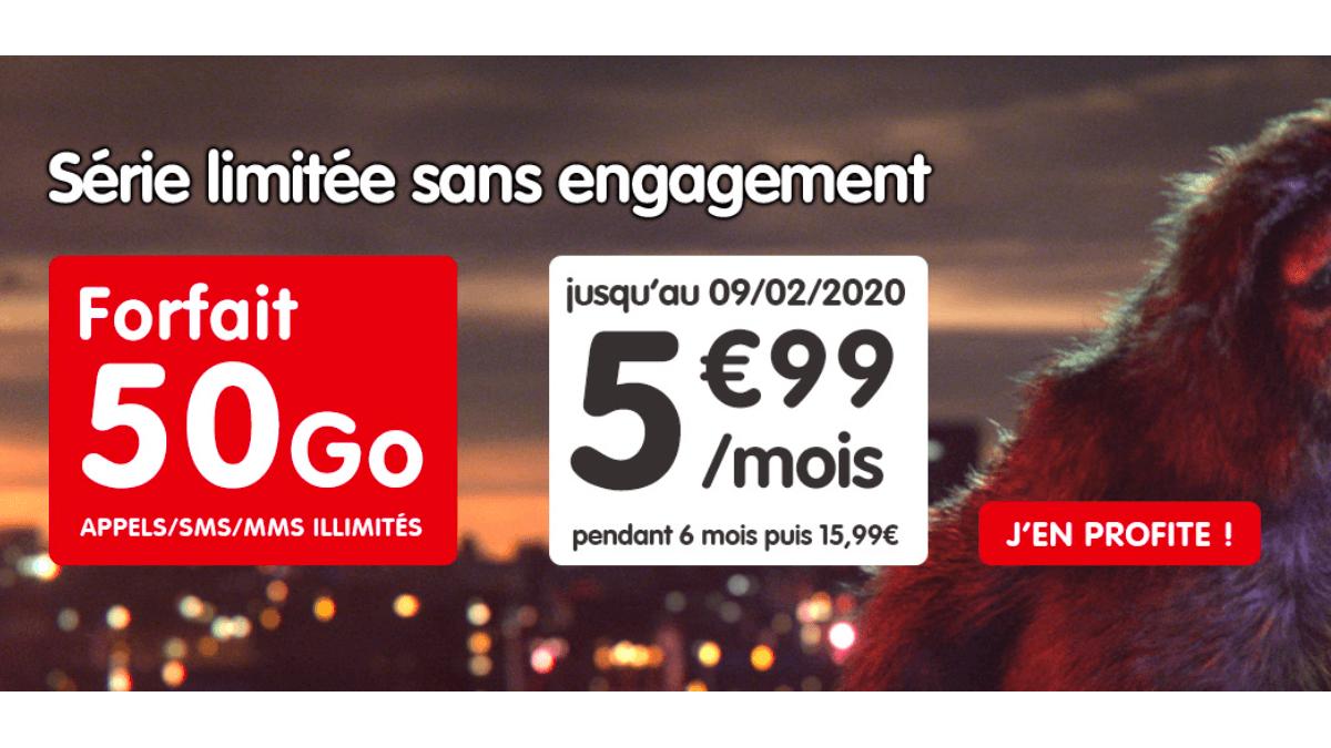 Chez NRJ Mobile, les 50 Go sont à 5,99€.