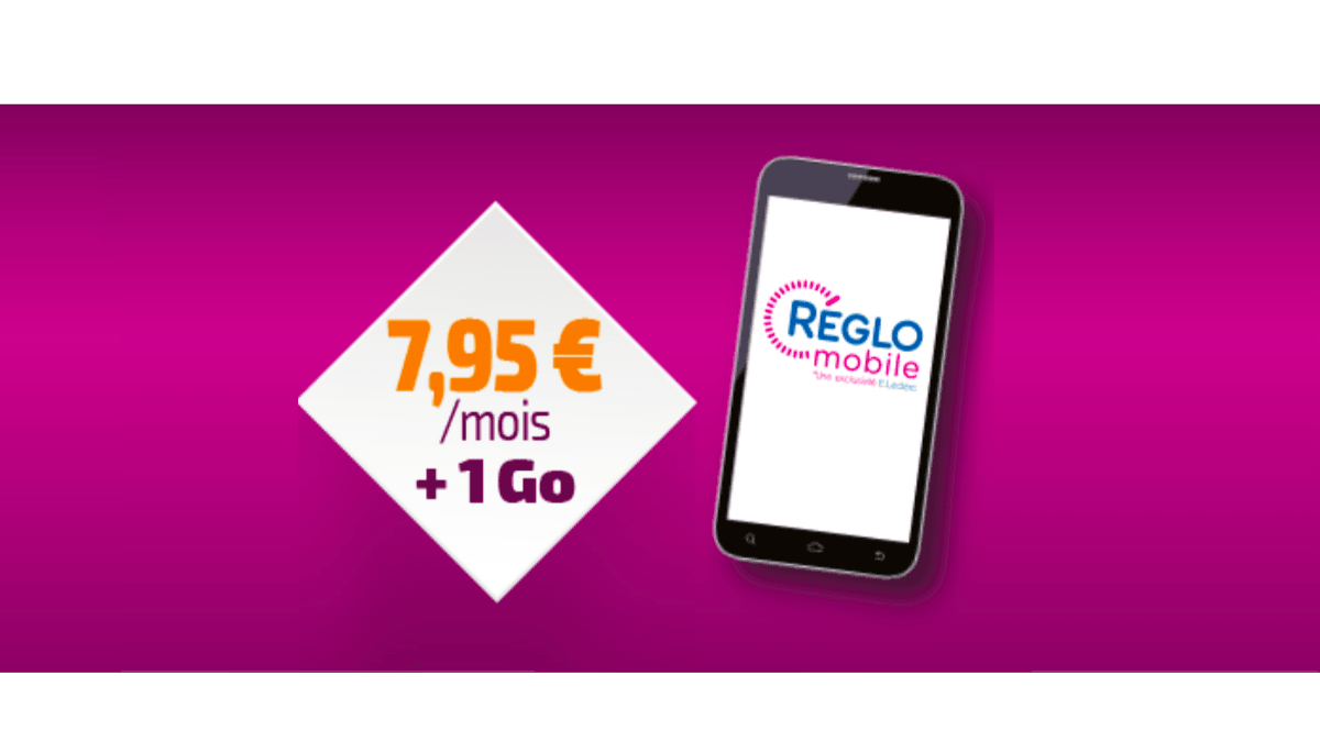 Chez Réglo Mobile le forfait à 1 Go de data est à 7€95.
