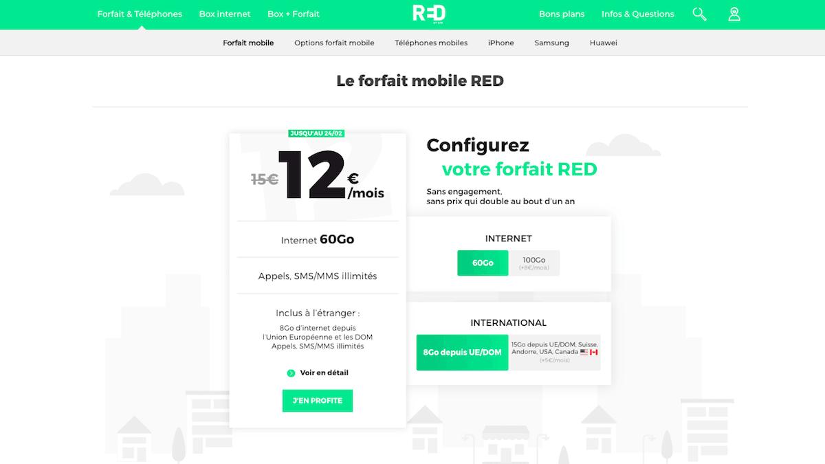 RED by SFR met bientôt fin à sa promo sur son forfait sans engagement.