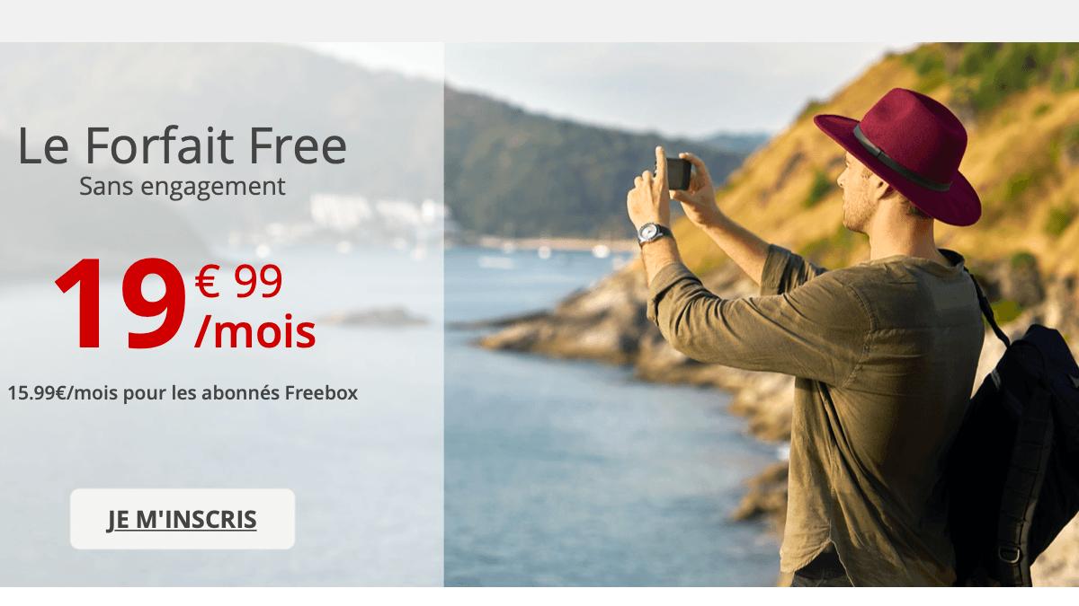 Chez Free, le forfait sans engagement est à 15,99€ pour les abonnés Freebox.