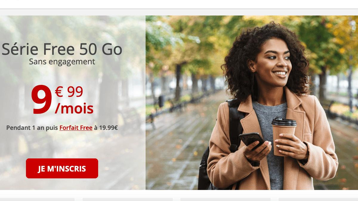 Free propose un forfait sans engagement à moins de 10€/mois