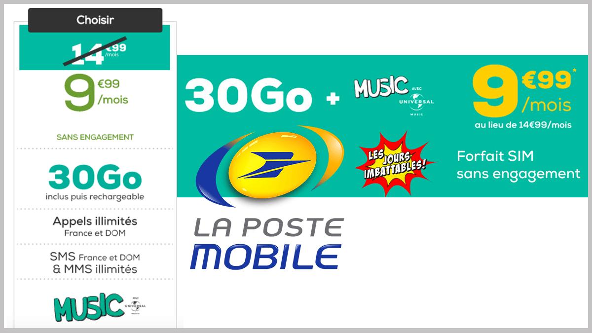 Moins de 10€ pour La Poste Mobile.