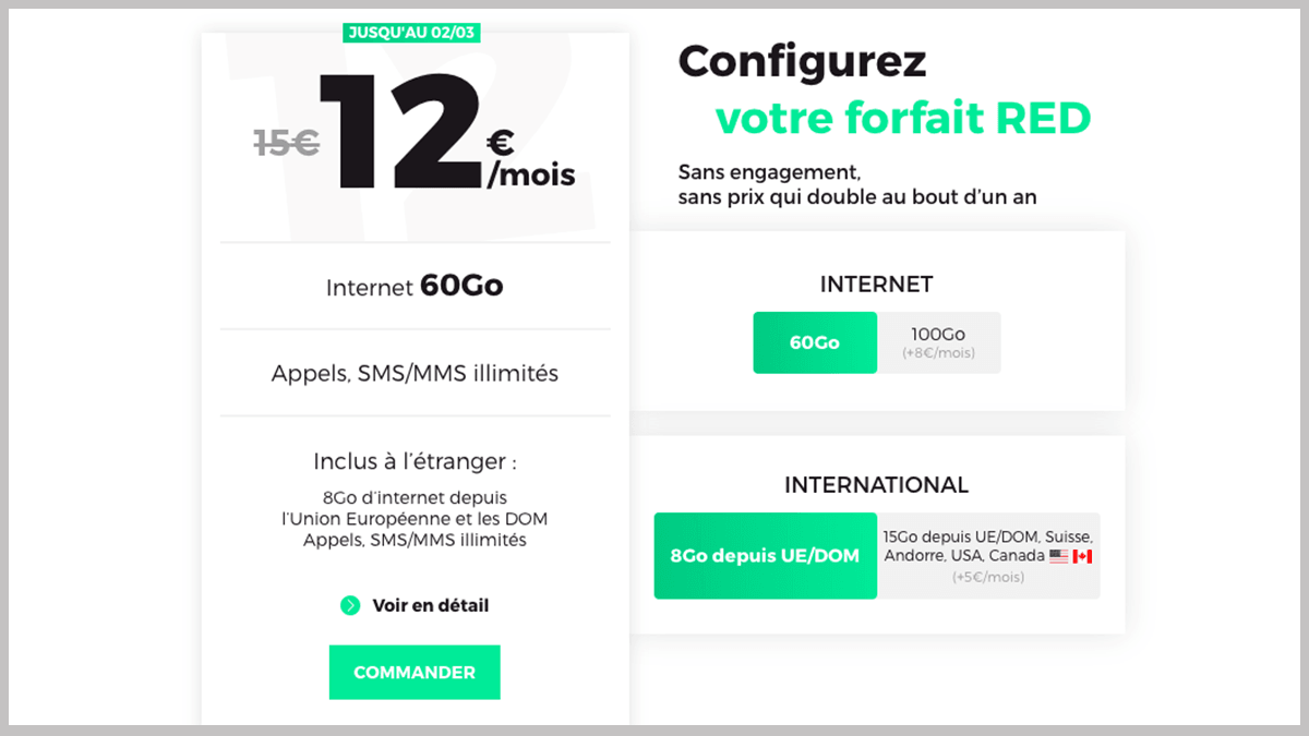 Forfait RED by SFR à 12€