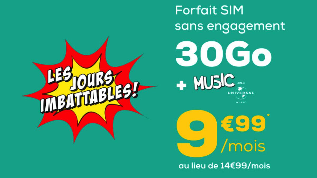 Le forfait SIM, idéal pour les adolescents permet un accès à Universal Music.