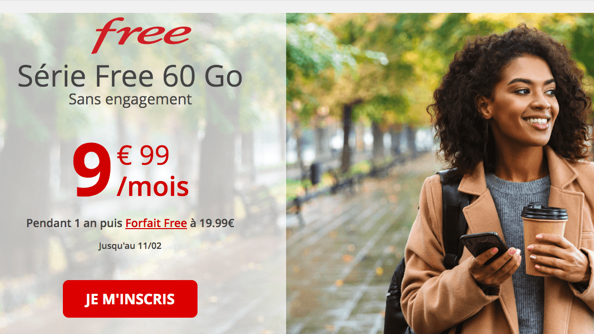 Free Mobile met en promotion son forfait mobile sans engagement