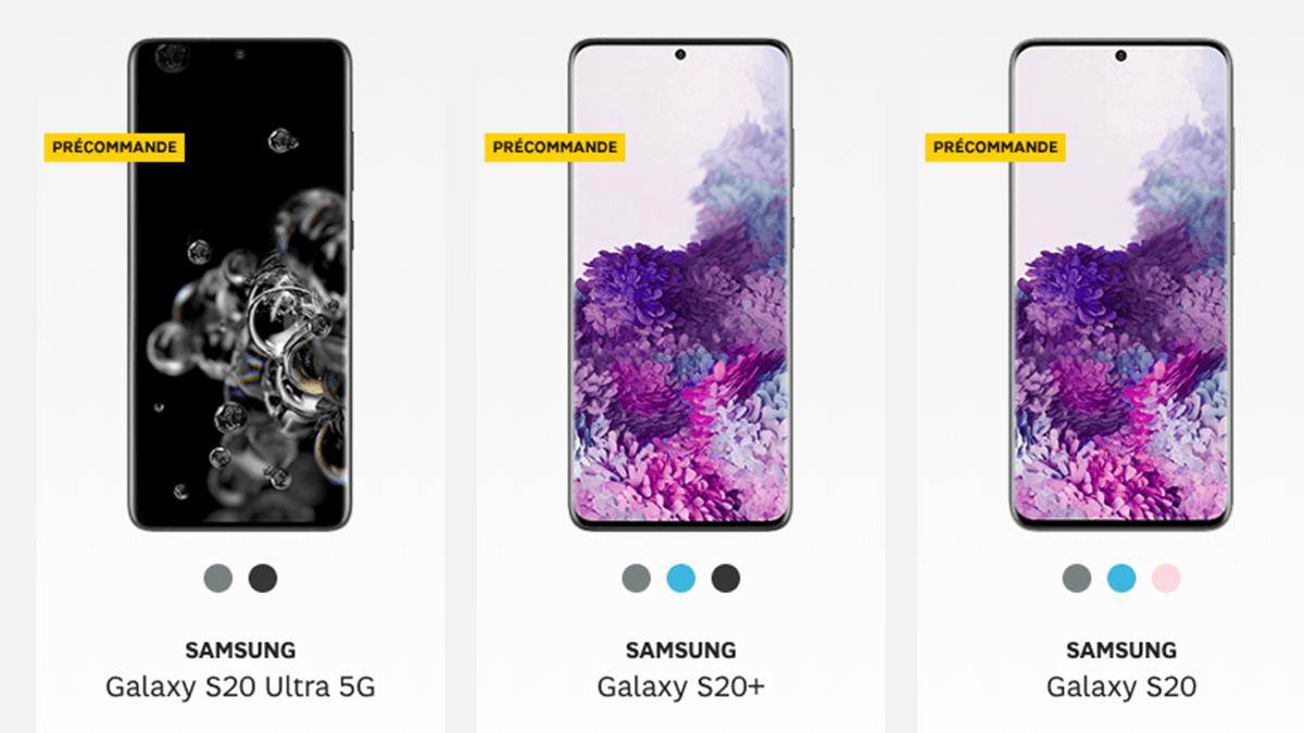 Forfaits + Galaxy S20 chez SFR.