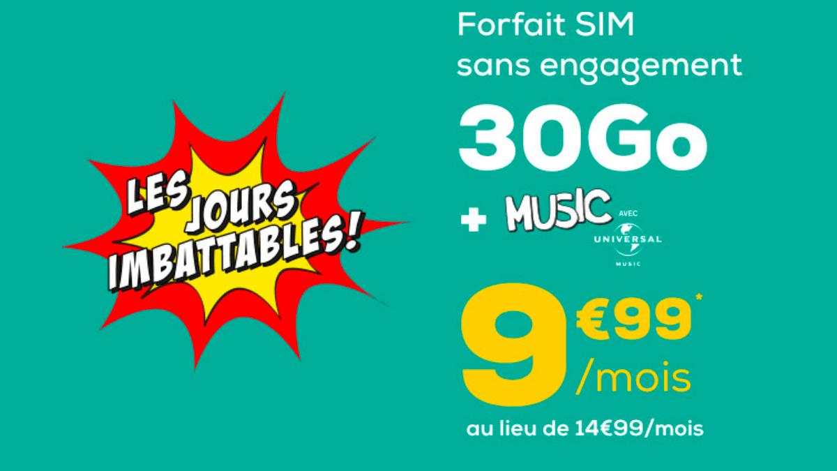 Le sans engagement chez La Poste Mobile c'est à partir de 9,99€.