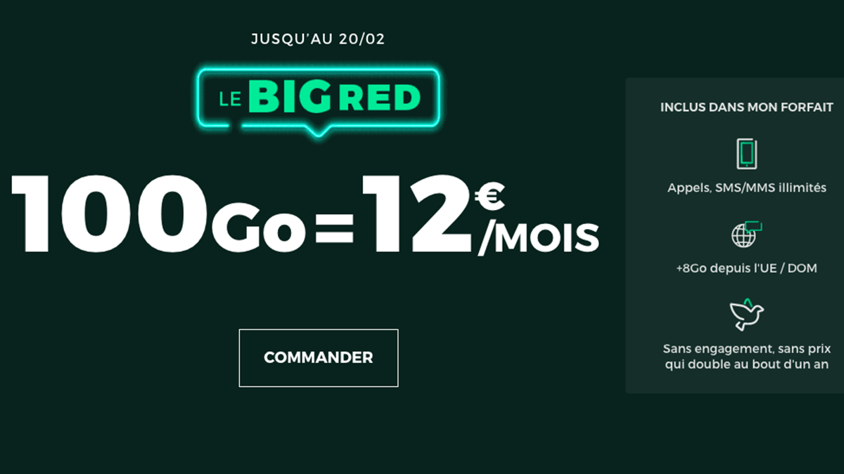 Forfait RED by SFR à 12€.