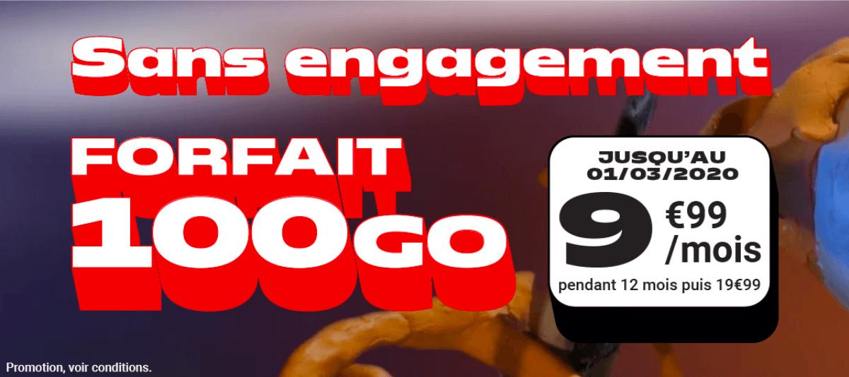 L'offre promotionelle de NRJ Mobile pour 100 Go à 9,99€/mois