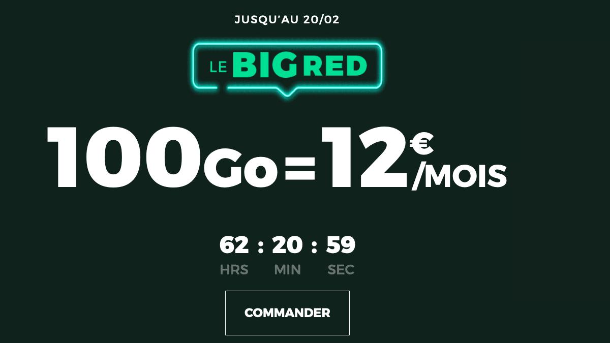 Le forfait sans engagement et 100 Go de RED by SFR