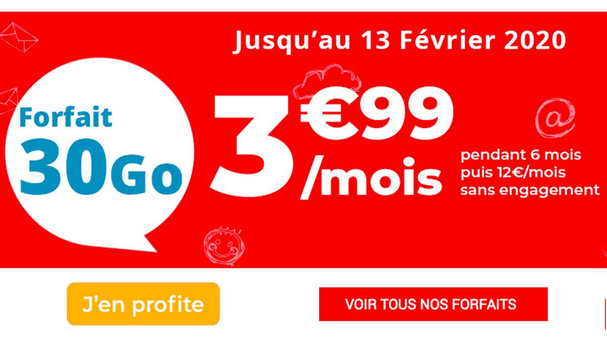 Moins de 5€ pour le forfait Auchan Télécom.