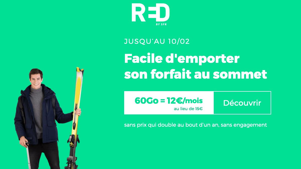 RED by SFR : un forfait sans engagement pas cher.