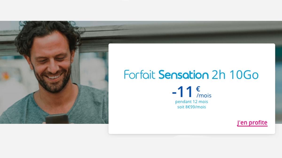 -11€/mois forfait Bouygues Telecom.