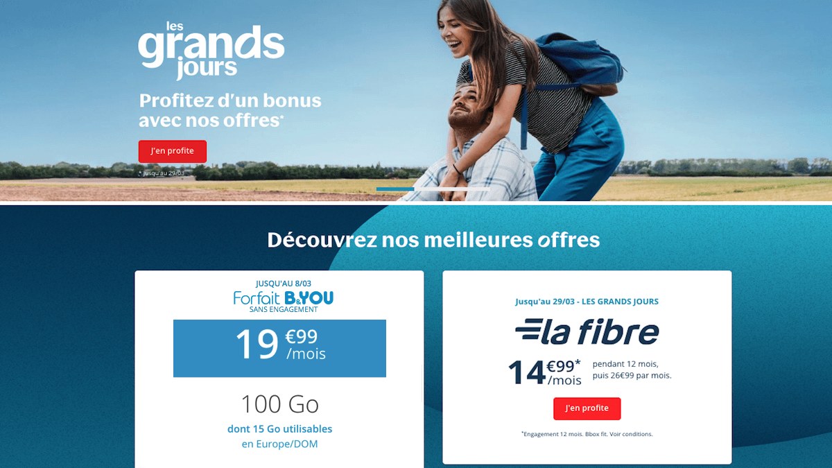 Les offres promotionnelles Bouygues Telecom
