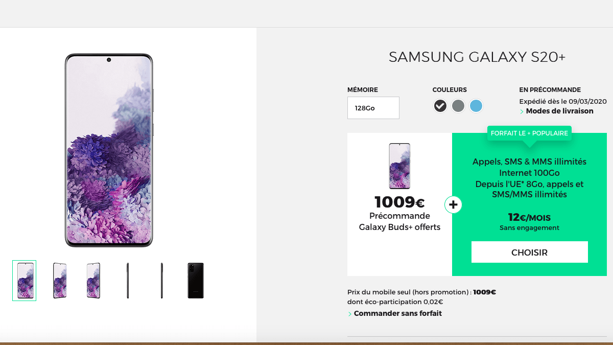 La précommande des Samsung Galaxy chez RED by SFR
