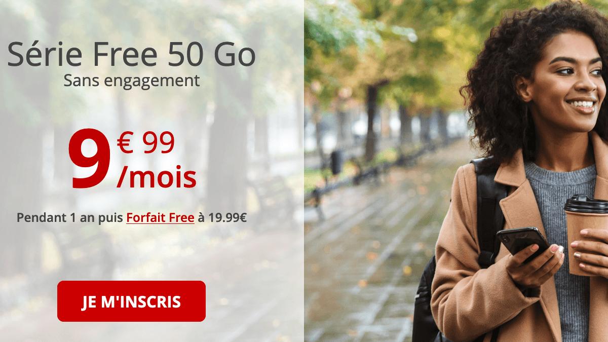 Promo forfait 4G Free.