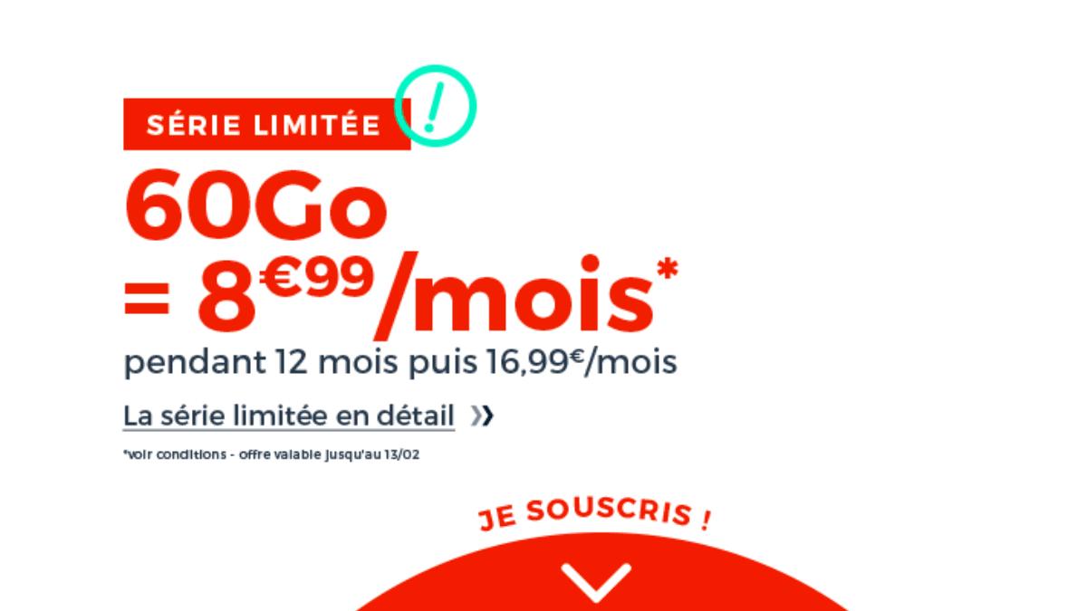 La série limitée du forfait 4G Cdiscount Mobile est 8,99€.