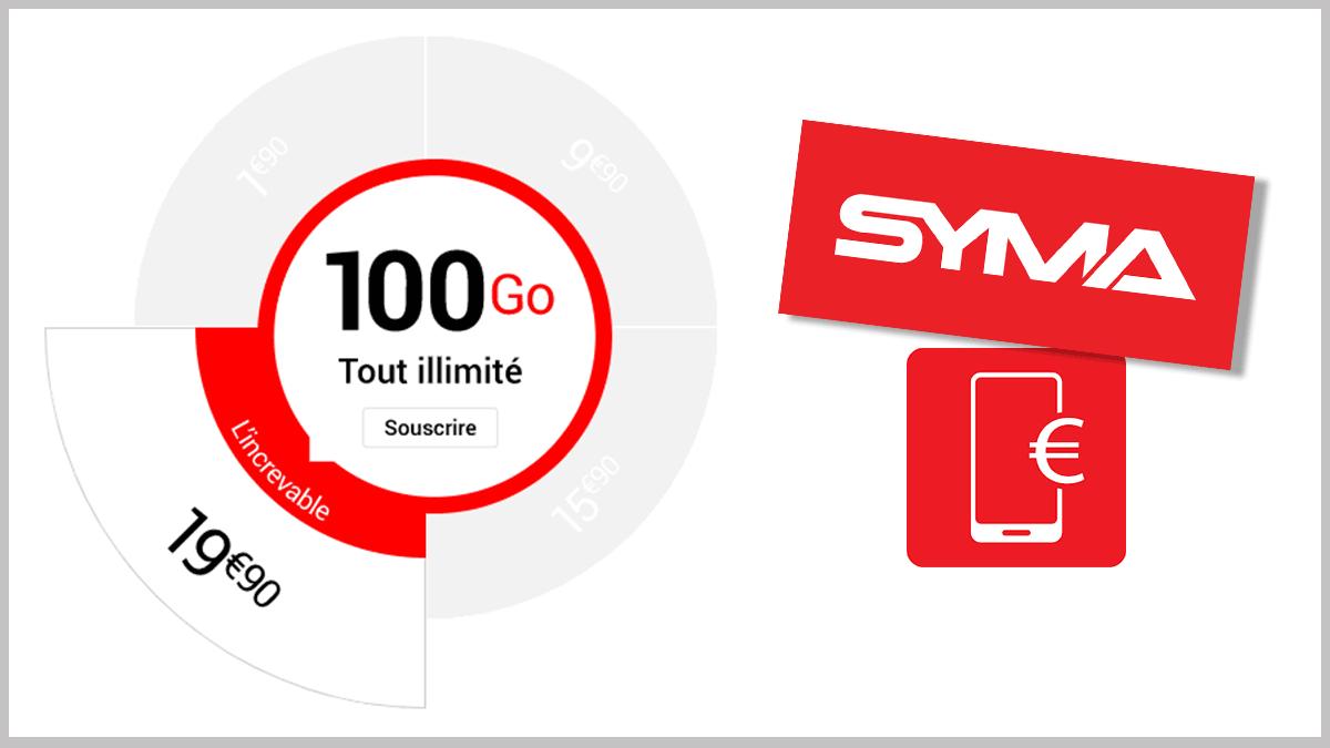 100 Go pour 19,90€ avec Syma.