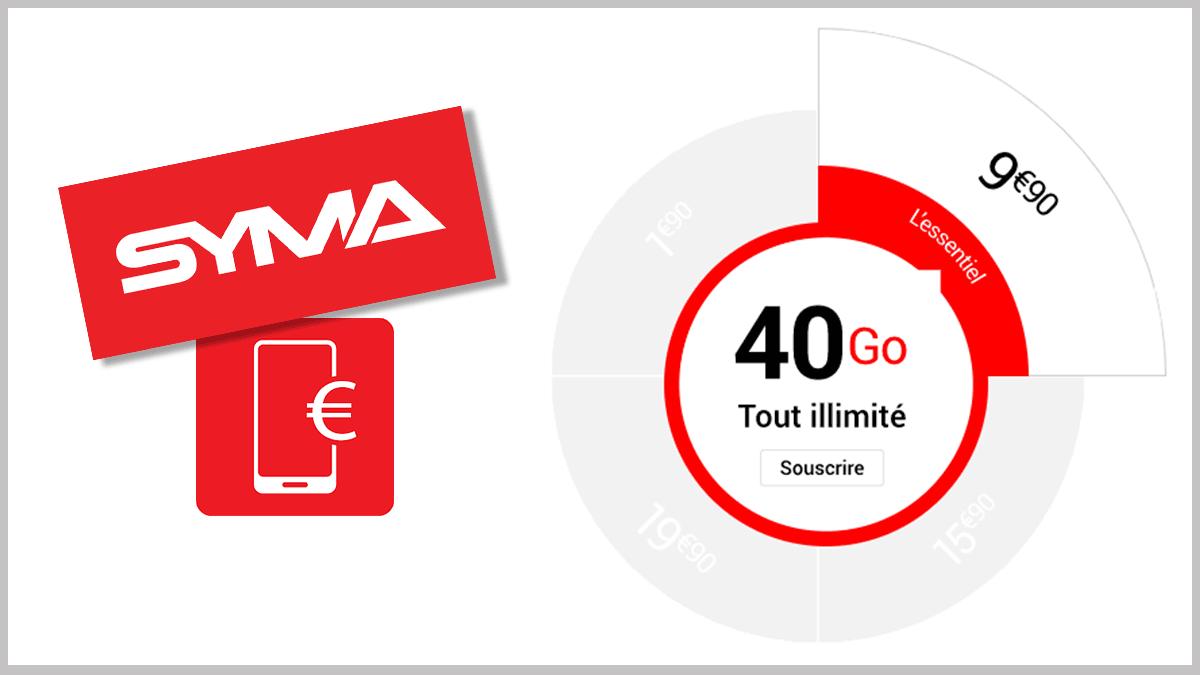 Syma Mobile avec 40 Go.