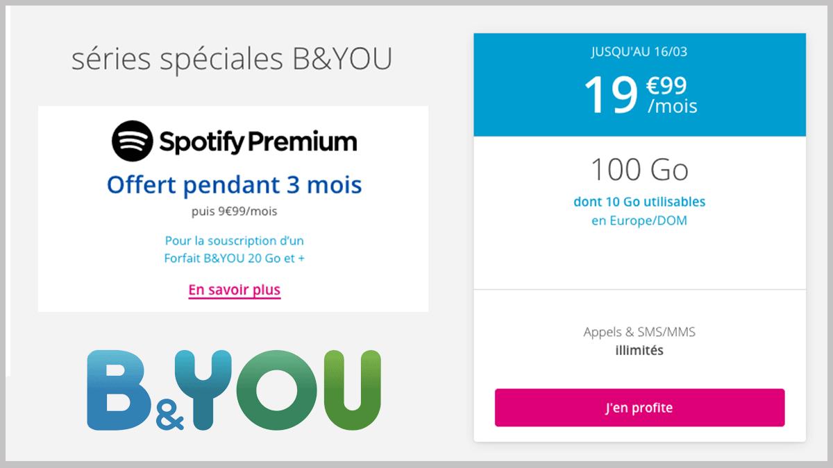 B&YOU sans engagement en promo.