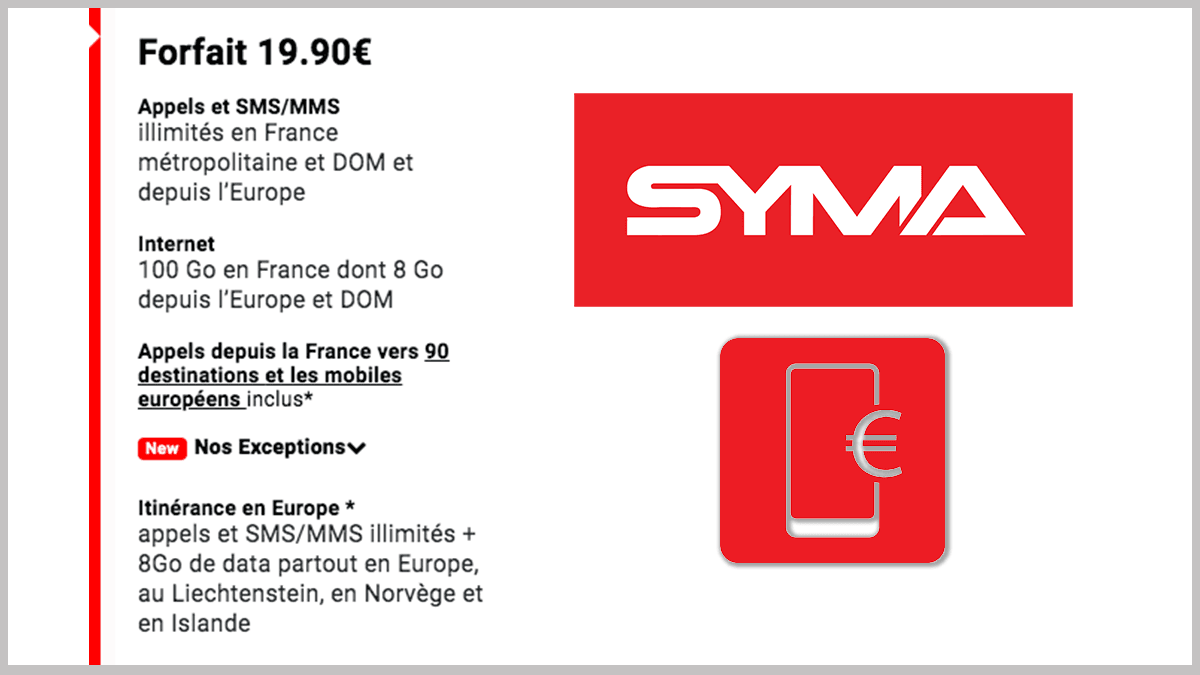 L'increvable de Syma Mobile avec 100 Go