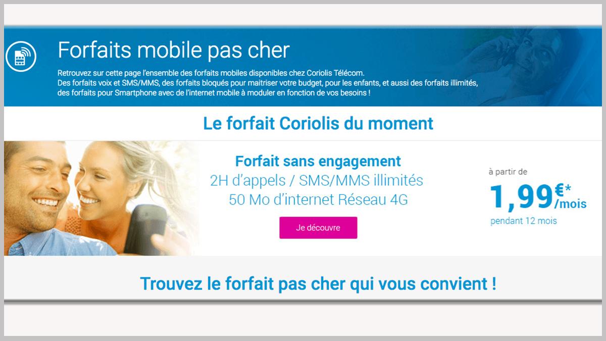 Coriolis Telecom en promo