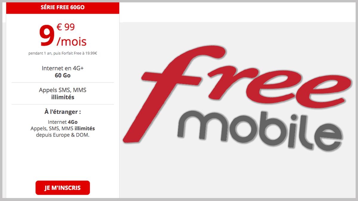 Forfait Free mobile en promo.