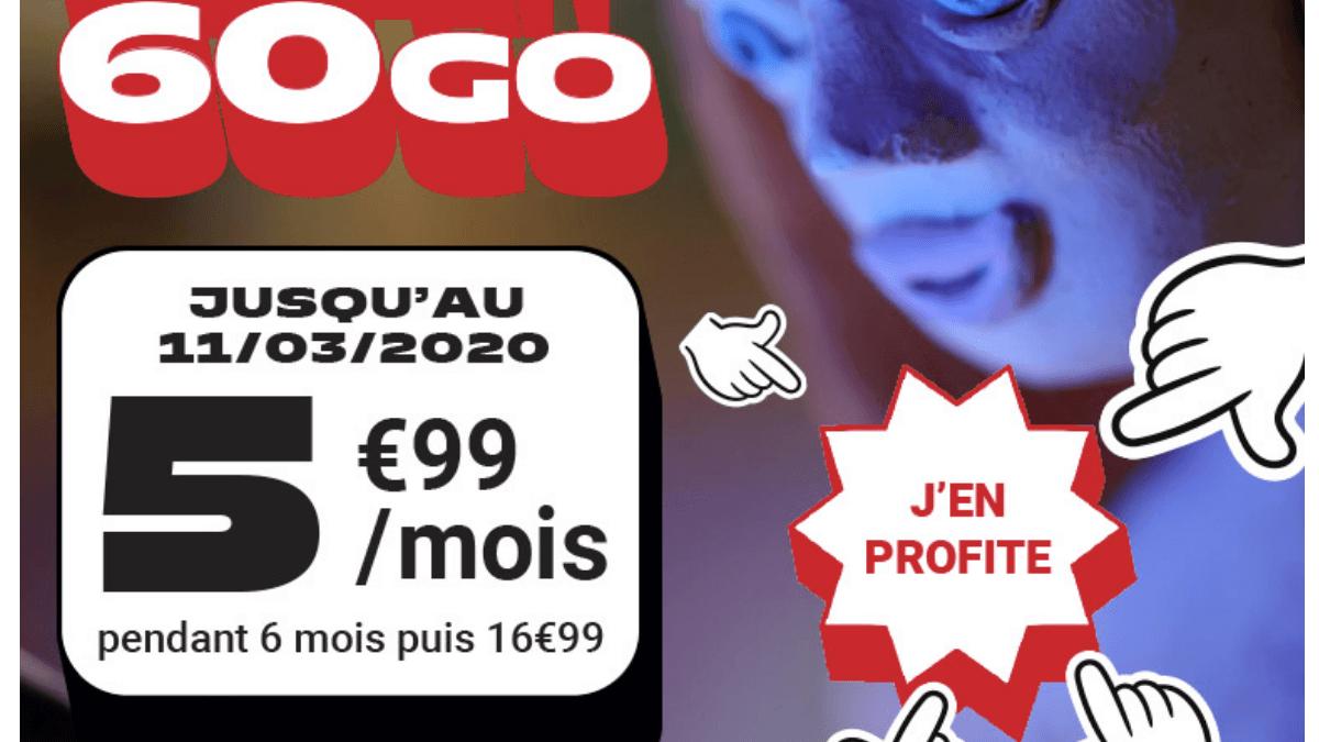 Forfait 60 Go pas cher NRJ.