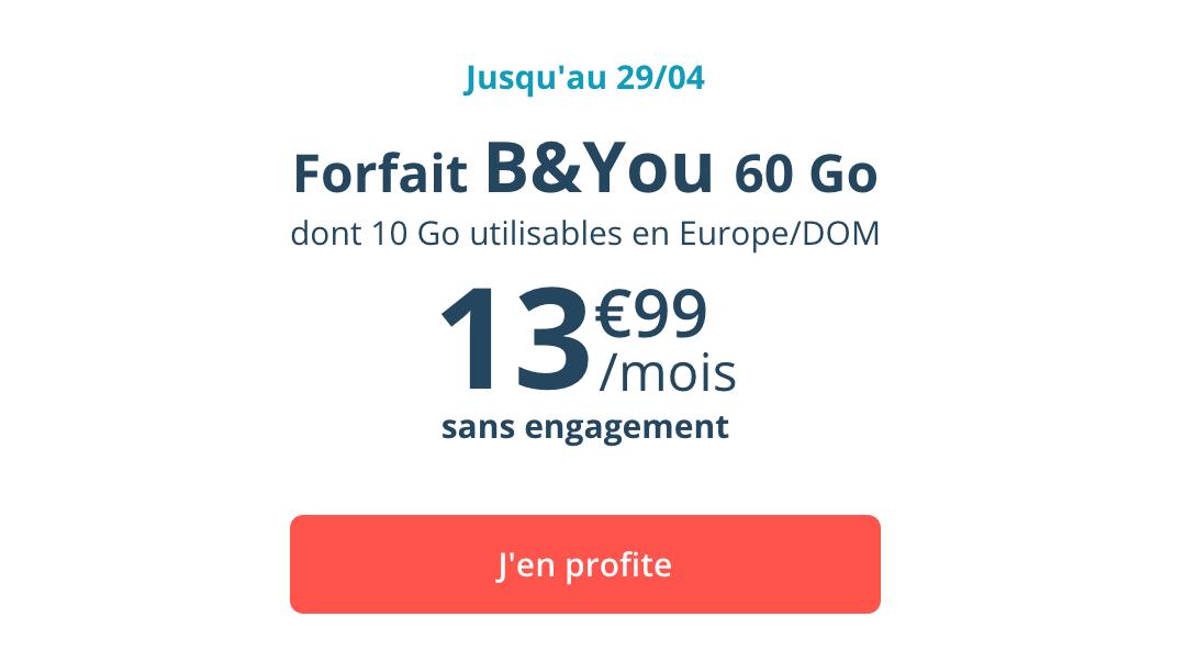 le forfait B&YOU 60 Go