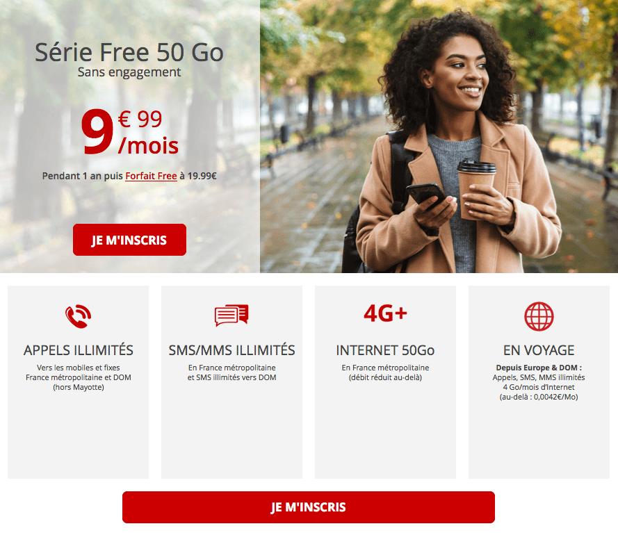 Le forfait Free 50 Go