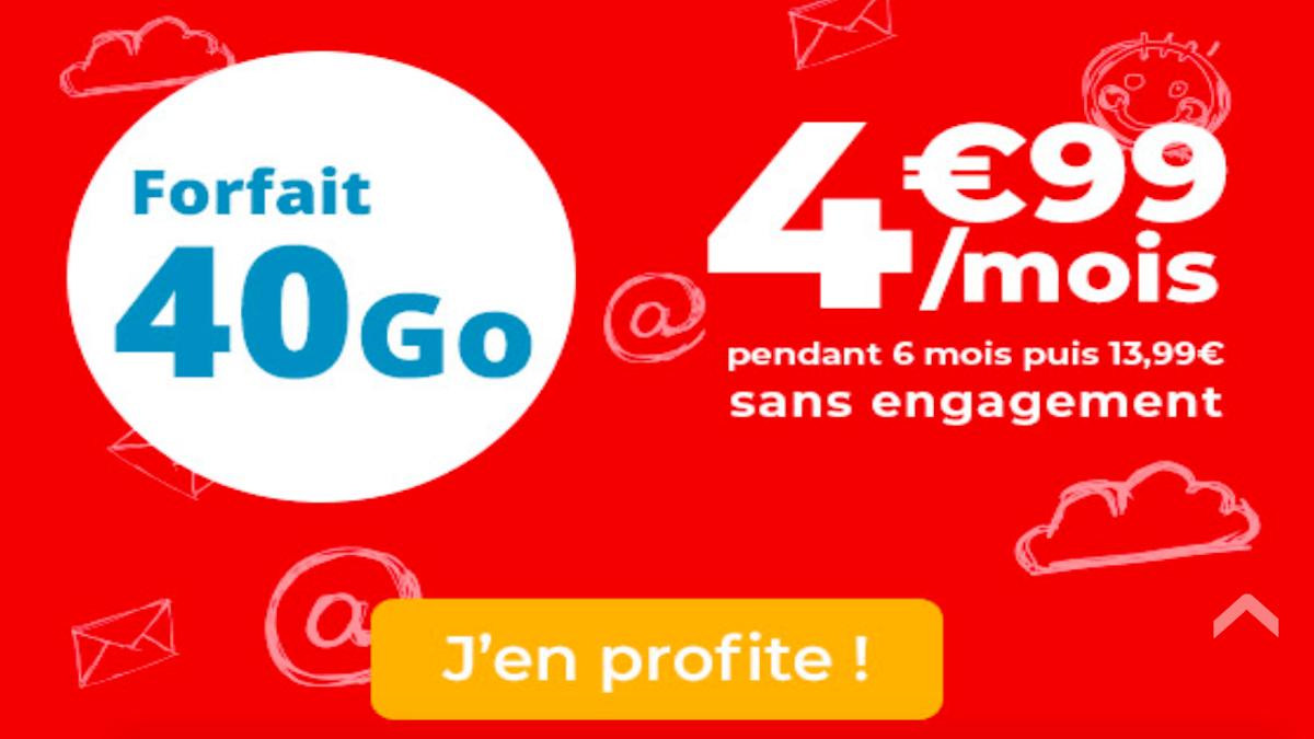Forfait sans engagement d'Auchan Telecom