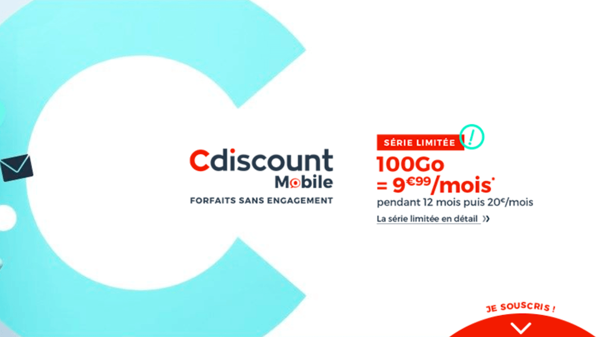 Forfait 100 Go Cdiscount mobile