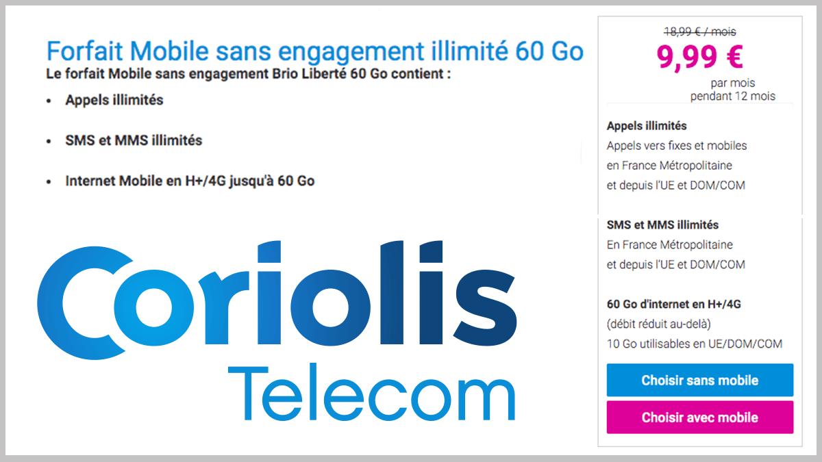 Sans engagement avec Coriolis Telecom