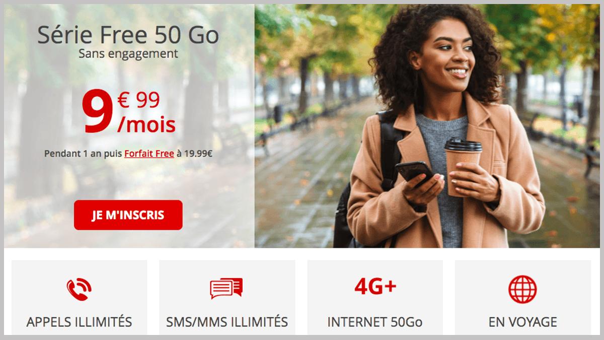 Forfait Free mobile à 10€/mois