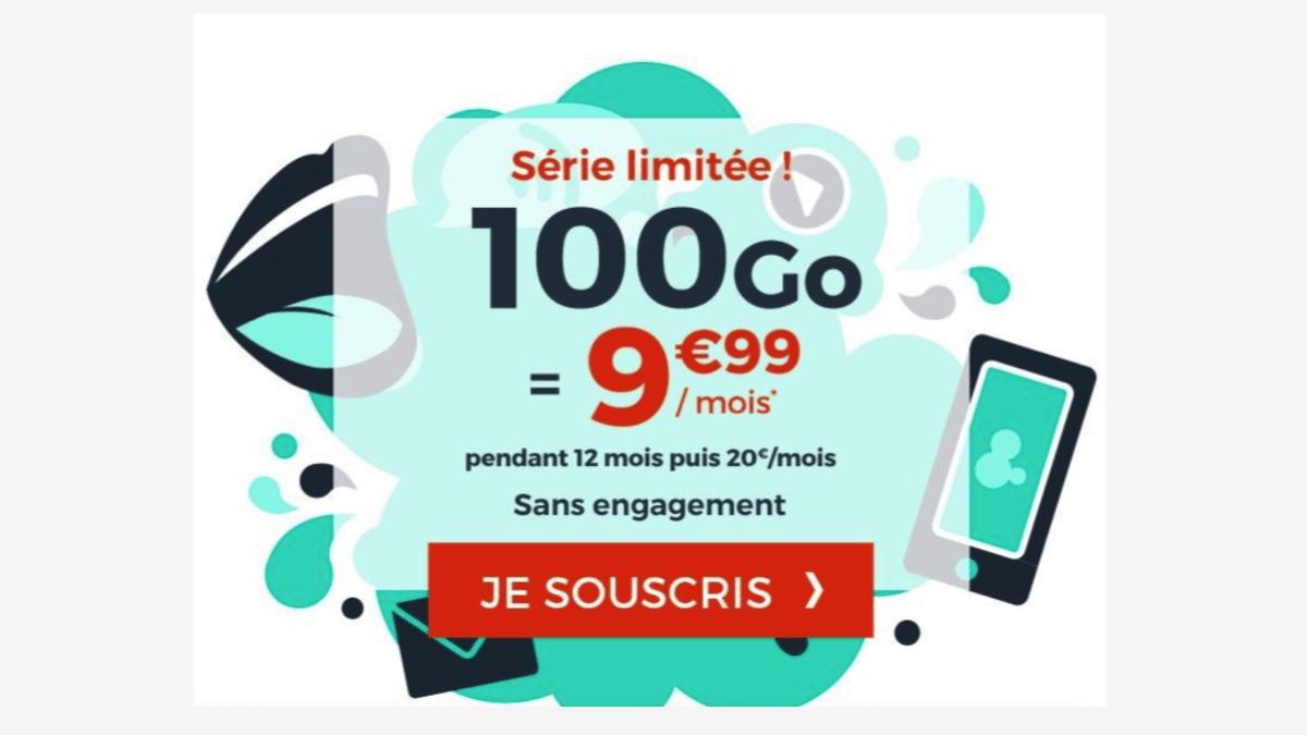 Le forfait 100 Go de Cdiscount Mobile est pas cher