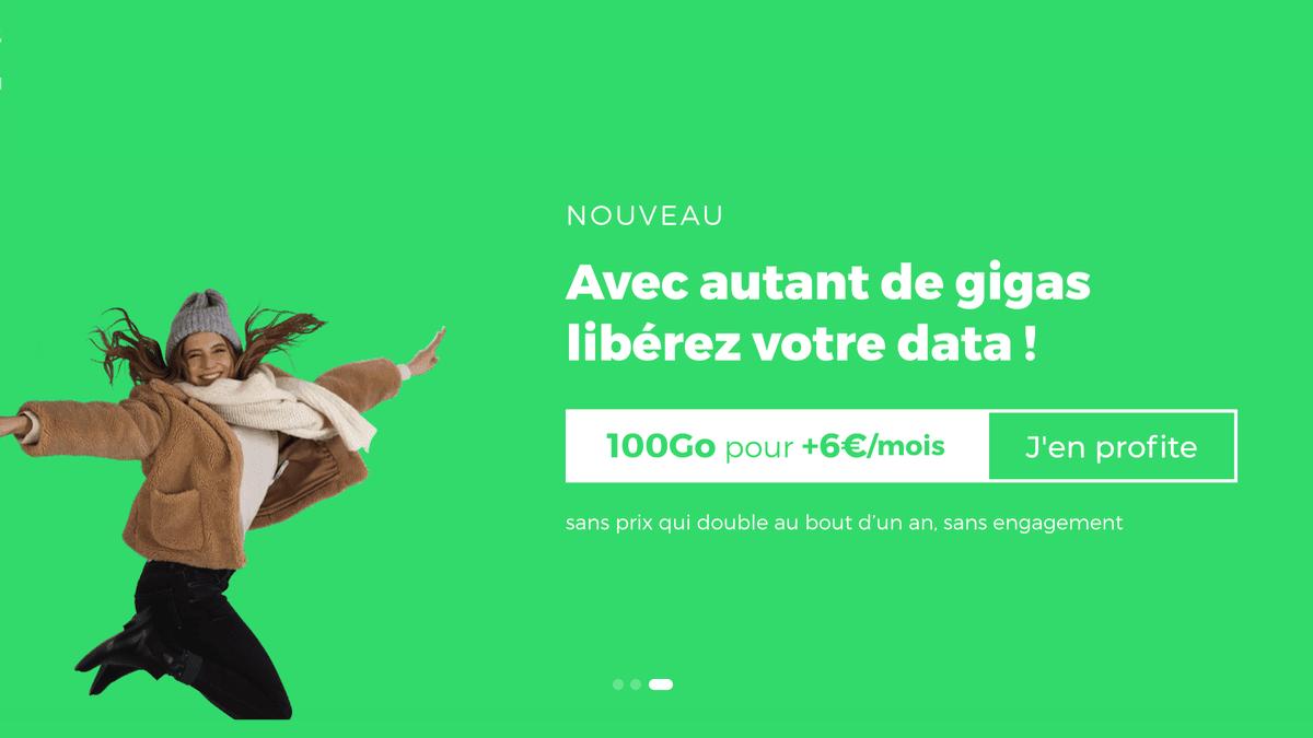 Le forfait 100 Go en promo de RED by SFR est sans engagement