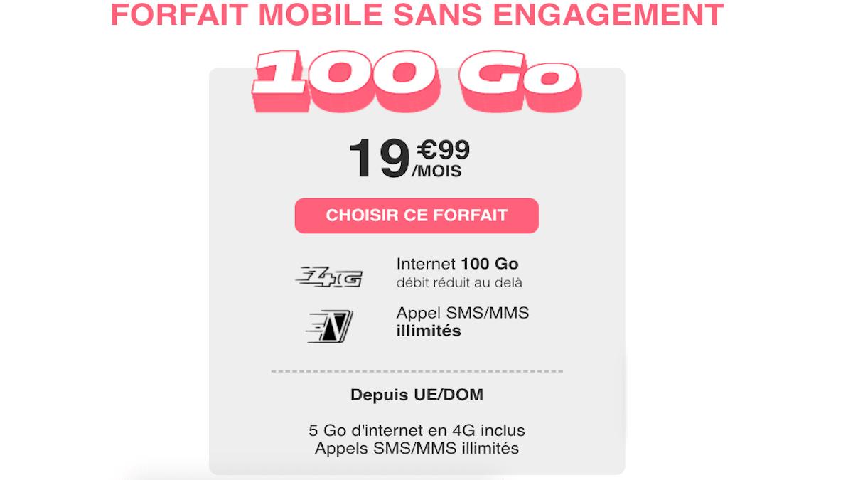 Forfait 100 Go en promo NRJ Mobile