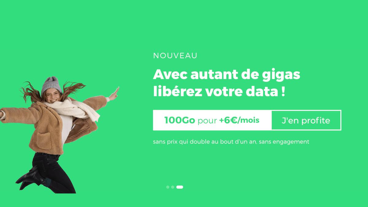 Le forfait 100 Go de RED by SFR est sans engagement