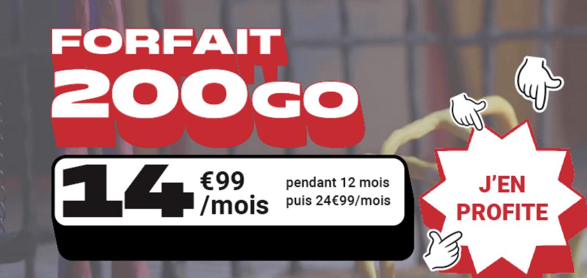 Le forfait en promo de NRJ Mobile pour 200 Go à moins de 15€