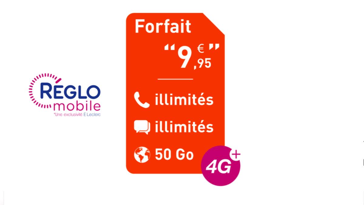 Le forfait 4G à 10€/mois de Réglo Mobile est pas cher