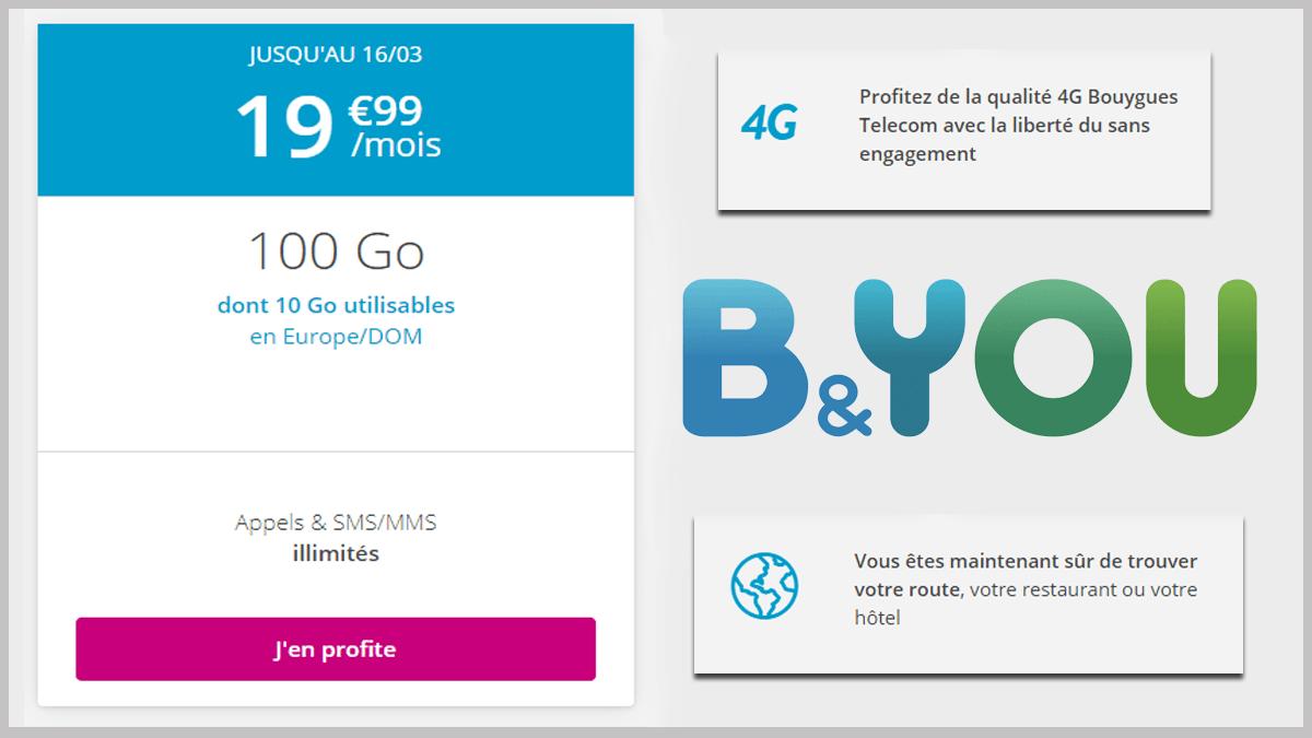 100 Go avec le forfait B&YOU