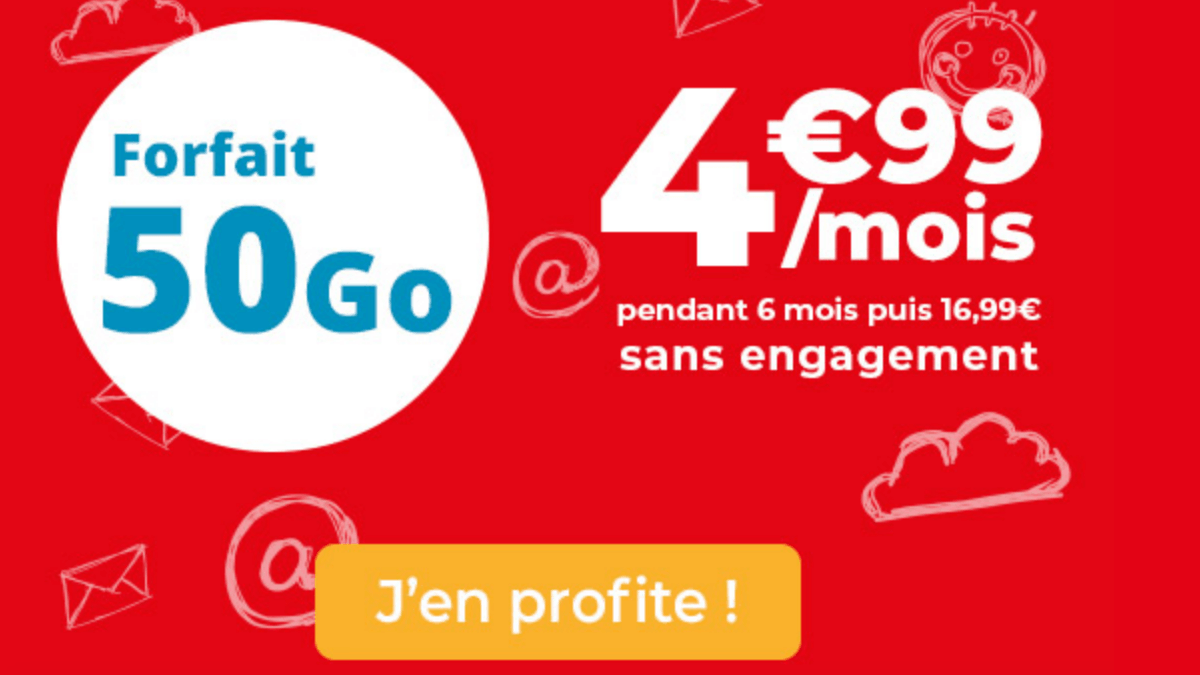 Le forfait en promo d'Auchan Telecom est à 5€