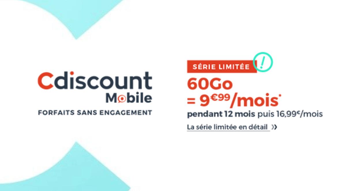 Le forfait 4G de Cdiscount Mobile disponible en promotion