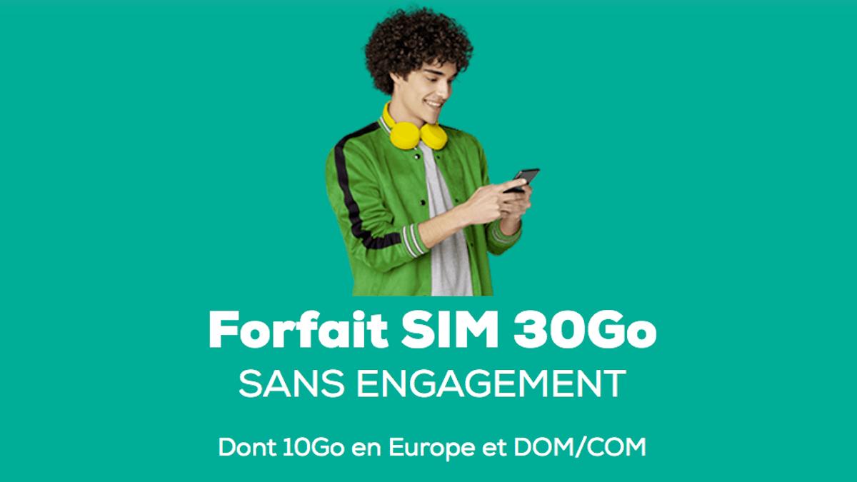 Forfait en promo 30 Go La Poste Mobile