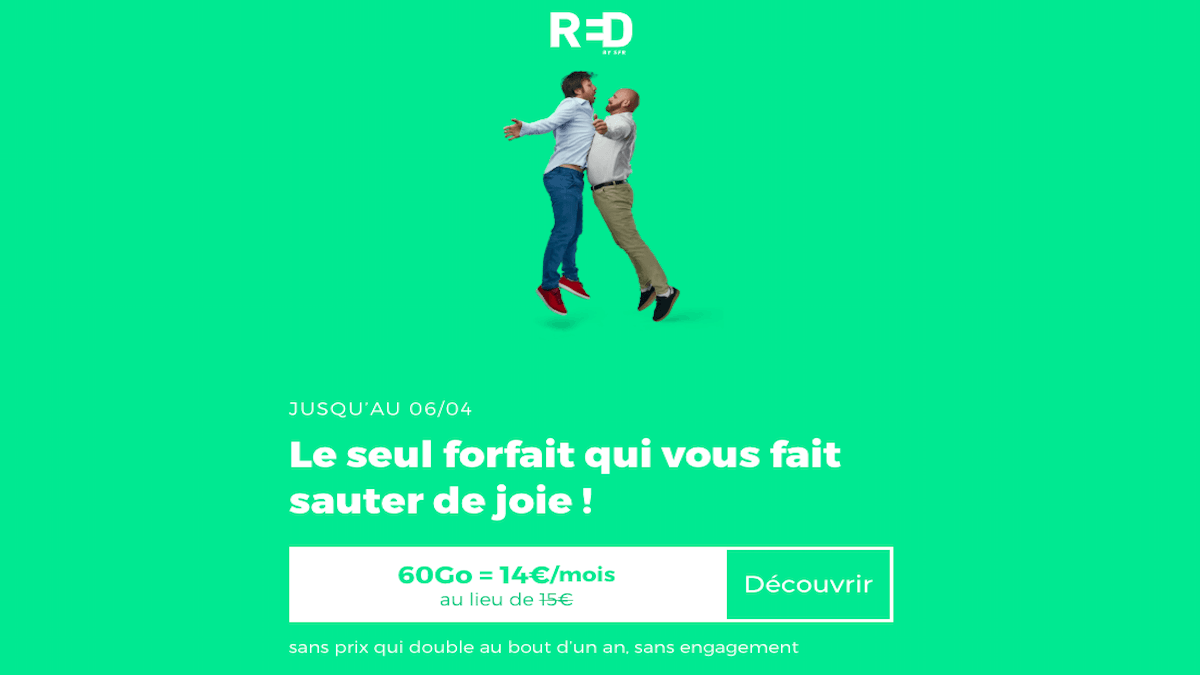 Forfait en promo red by sfr