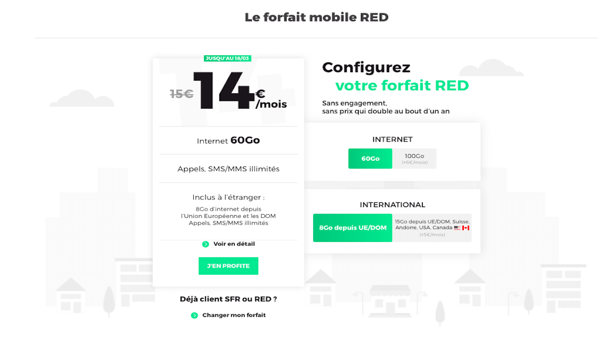 Nouvelle promo forfait mobile RED by SFR