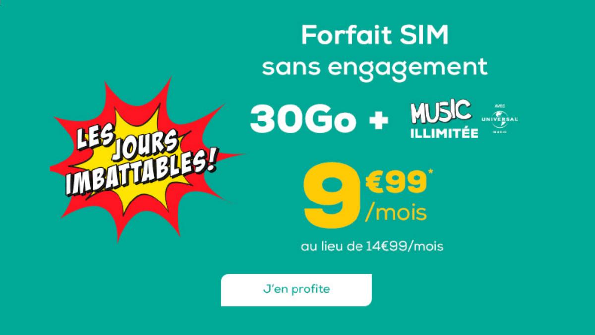 La Poste Mobile et son forfait musique illimitée à moins de 10€/mois