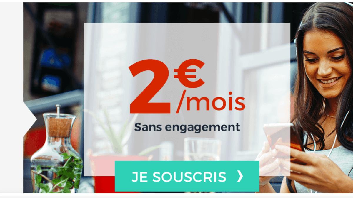 Le forfait à 2€ de Cdiscount Mobile est sans engagement