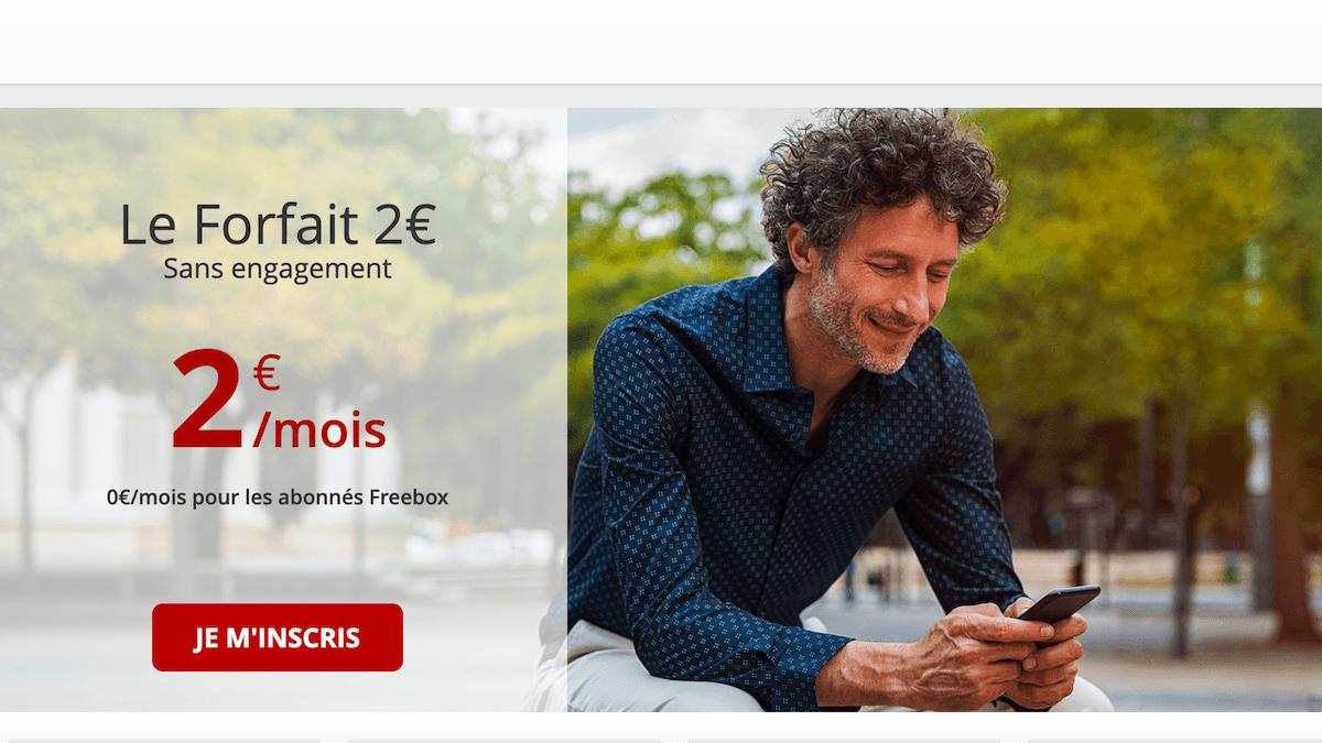 Le forfait à 2€ de Free mobile inclut 4h d'appels